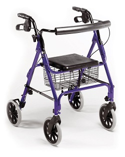 Lightweight-Aluminium-Folding-4-Wheel-Rollator-Zimmer